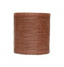Bobine de sinamay - décoration chemin de table marron chocolat naturel