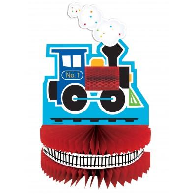Centre de Table Train Locomotive Anniversaire Embarquement Immédiat