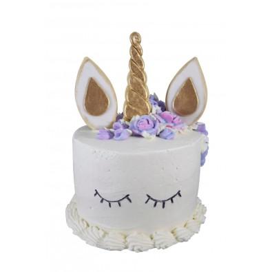 Kit gateau emporte pi ce biscuit en forme de licorne cheval anniversaire - Decoration gateau cheval ...