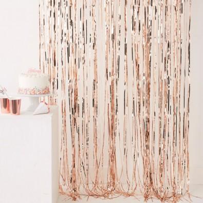 rideau franges suspendre d coration rose gold rose cuivr sweet table. Black Bedroom Furniture Sets. Home Design Ideas