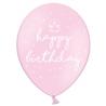 Ballons Rose Pastel Happy Birthday Joyeux Anniversaire