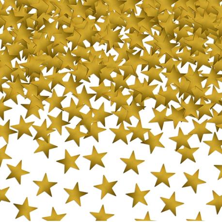 Grand sachet - Confettis étoiles jaune doré Décoration de fête