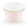 Contours à Cup Cakes Rose pâle et doré