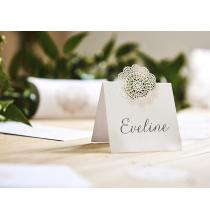 10 Etiquettes de Table avec décoration dentelée - Dentelle Collection