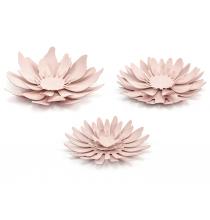 3 Fleurs en Papier à Monter Rose Vintage en Papier Décoration de Fête