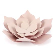 3 Fleurs en Papier à Monter Rose Vintage en Papier Décoration de Fête - 11cm