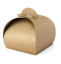 10 Contenants à Dragées Kraft - Boîte Cadeau Invité