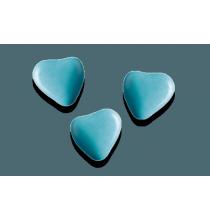 250g - Dragées Chocolat Petits Coeurs Premium Médicis Bleu Turquoise