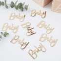 """Confettis """"Baby"""" Dorés - Décorations de table"""