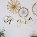 """Banderole """"Oh Baby"""" Blanc et doré - Décoration"""