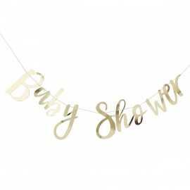 """Banderole """"Baby Shower"""" dorée - Décoration"""