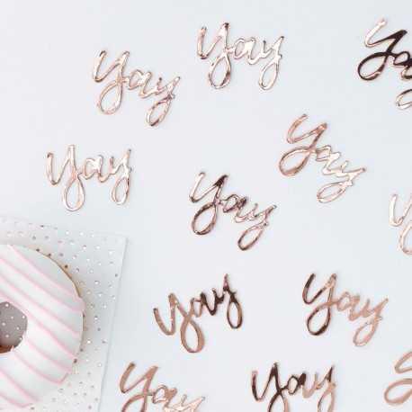 Confettis de table Yay Rose Gold Cuivré