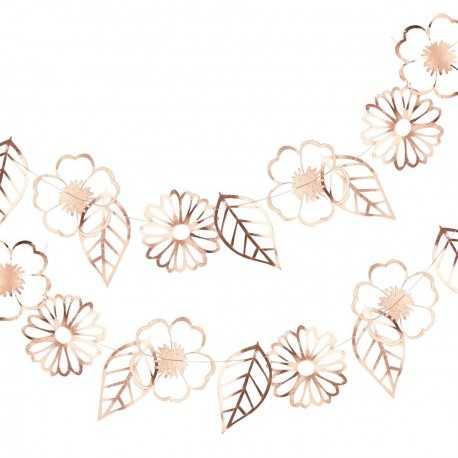 Banderole Fleurs Liberty Rose Gold - Collection décoration florale