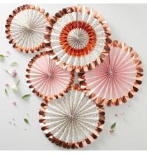 Banderole à Fanions Liberty Rose Gold - Collection décoration florale