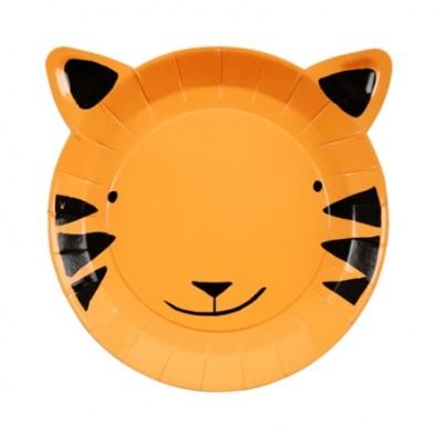 12 Assiettes Tigre  Anniversaire Meri Meri