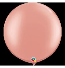 2 Ballons XXL Ronds Rose Gold Rose Cuivré Premium