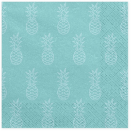 20 Serviettes MInt Ananas Tropical Party Flamant Rose Flamingo Sweet Table en papier