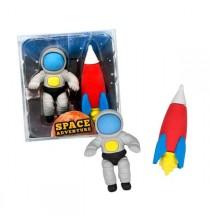 2 Gommes Fusée et Astronaute - Anniversaire Aventurier