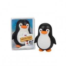 1 Gomme Pingouin Noir et Blanc