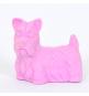 1 Gomme Chien de Race Terrier Rose - parme - Anniversaire Aventurier