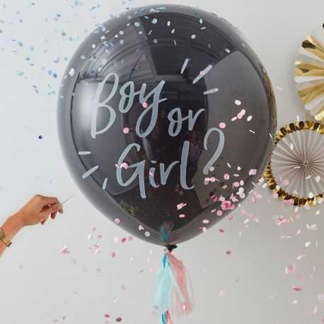 Ballon XXL Annonce du Sexe de Bébé : Boy or Girl ?