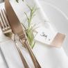 10 Etiquettes - Marque-places Rose Gold - Rose Cuivré