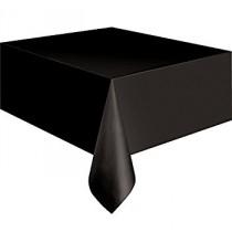 Nappe Plastique Noire Vaisselle Jetable de Fête