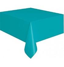 Nappe Plastique Bleu Turquoise Vaisselle Jetable de Fête