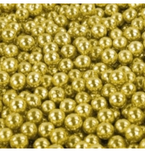 Perles de Sucre Or - Décors Contenants à Dragées Baptême et Fête