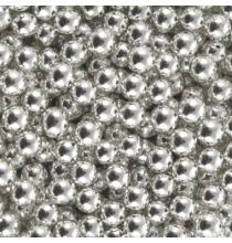 Perles de Sucre Argent - Décors Contenants à Dragées Baptême et Fête