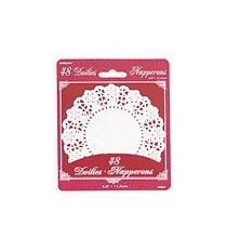 50 Napperons Dentelle en Papier Blanc 10,5cm