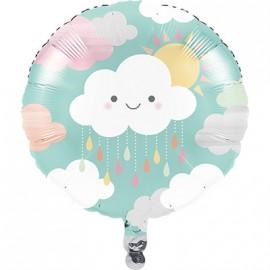 Ballon Alu thème Nuage & Soleil Pastel