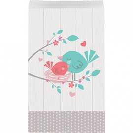Sachets Cadeaux Invités Hello Baby - Petit Oiseau Rose