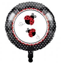 Ballon Alu Happy Birthday Thème Coccinelle