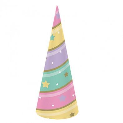 remise spéciale styles divers meilleure collection chapeau corne de licorne thème anniversaire licorne dorée et pastel
