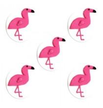 5 Décors en Sucre Flamingo Party Flamant Rose