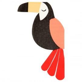 Serviettes en forme de Toucan Party
