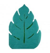 Grandes Serviettes Feuilles Jungle En Papier Vert Foncé Vaisselle Jetable