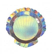 Assiettes Holographiques en forme de Coquillage Collection Petite Sirène Anniversaire à thème