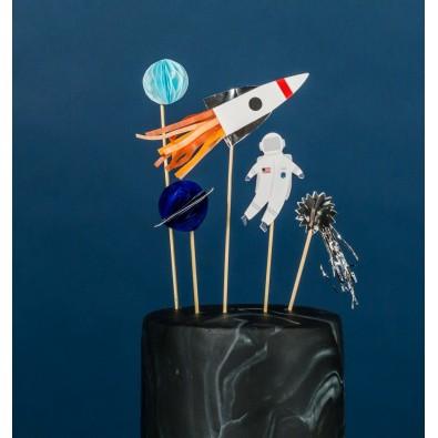 Kit Décos pour Gâteau Anniversaire Astronaute & Espace