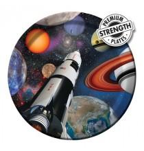 Grandes Assiettes Premium - Anniversaire Astronaute & Espace