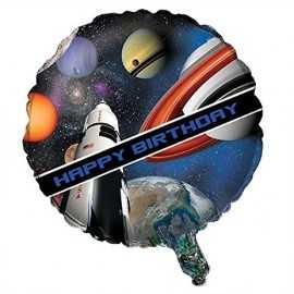 Ballon Alu Rond - Anniversaire Planètes & Espace