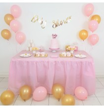 Pack Baby Shower Princesse Pois Rose et Doré