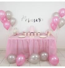 Pack Baby Shower Princesse Rose & Argent