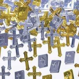 Confettis de Baptême & Communion Croix et Bible