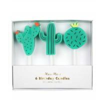 6 Bougies Premium Cactus Party Anniversaire et Fête