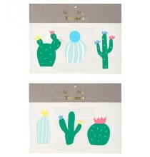 6 Tatouages Ephémères Cactus Party Anniversaire et Fête
