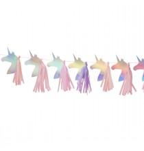 Banderole Licorne & Tassels Effet Holographique  - Licorne Holographique - Anniversaire