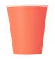 Gobelets premium corail en papier - vaisselle jetable