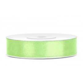 Ruban Vert Pistache 12mm Voile en bobine